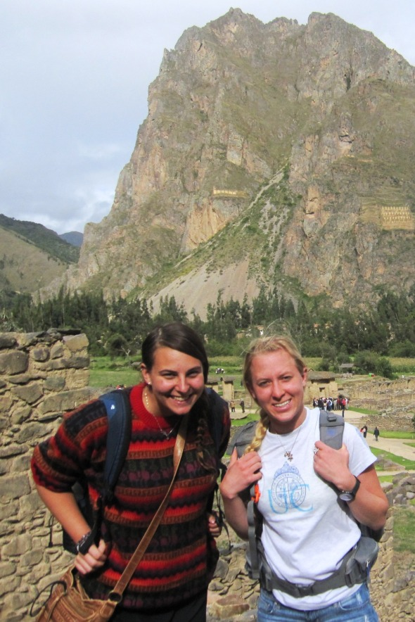 About halfway up the ruins of Ollantaytambo
