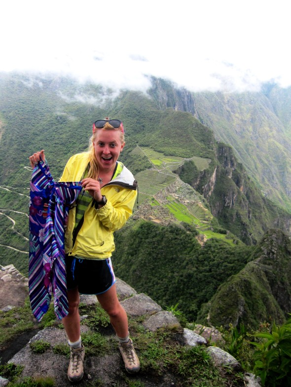 The Shirt climbed Wayna Picchu. Check out those views.